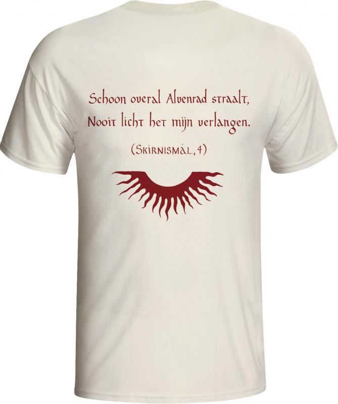 Alvenrad - Heer T-Shirt  |  M  |  white